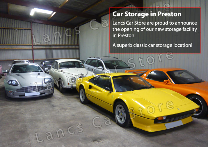 car storage in preston for classic cars